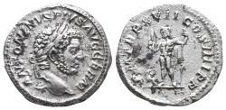 Ancient Coins - Caracalla. AD 198-217. AR Denarius  3.4gr 18.6mm