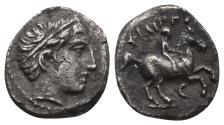 Ancient Coins - MACEDOINE, Philippe III Arrhidée (323-317), AR 2.1gr, 12.3mm