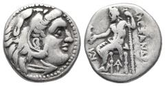 Ancient Coins - Antigonos I Monophthalmos AR Drachm. In the name and types of Alexander III. Magnesia ad Maeandrum, circa 319-305 BC  (4.0gr, 16.0mm)
