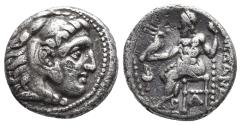 Ancient Coins - Kingdom of Macedon. Alexander III, The Great. drachm. 336-323 BC 3.9gr 15.8mm