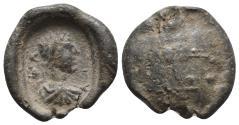 Ancient Coins - Roman PB Tessera.( 100-300). Severus Alexander?  3.87 g. 18 mm.