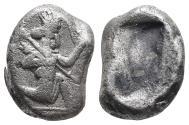 Ancient Coins - Achaemenid Empire. Sardeis. Time of Darius I to Xerxes I 505-480 BC. 5.2gr 15.6mm