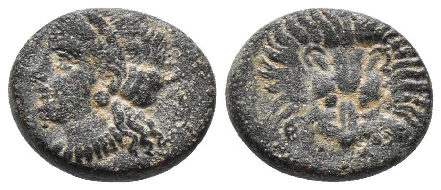 Ancient Coins - IONIA. Samos. Ae (Circa 408/4-380/66 BC). 2.4gr, 14.3mm
