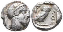 Ancient Coins - ATTICA, Athens. Circa 454-404 BC. AR Tetradrachm Weight: 17.11 g Diameter: 25.1 mm