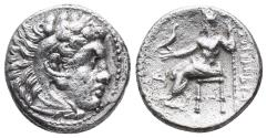 Ancient Coins - Kingdom of Macedon. Alexander III, The Great. drachm. 336-323 BC 4gr 16.6mm