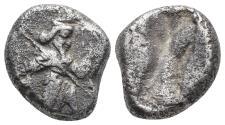 Ancient Coins - Achaemenid Empire. Sardeis. Time of Darius I to Xerxes I 505-480 BC.5.3gr 16.7mm