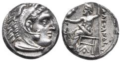 Ancient Coins - Kingdom of Macedon. Alexander III, The Great. drachm. 336-323 BC 4.2gr 16.2mm