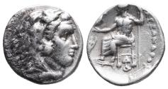Ancient Coins - Kingdom of Macedon. Alexander III, The Great. drachm. 336-323 BC 4.2gr 16.8mm