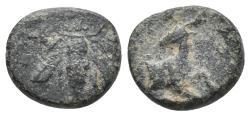 Ancient Coins - IONIA. Ephesos. Ae (Circa 390-380 BC). 1.6gr 10.9mm