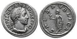 Ancient Coins - Severus Alexander. AD 222-235. AR Denarius (2.9gr, 19.9mm)