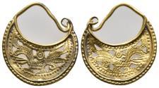 Roman gold earrings 21.5mm 2gr