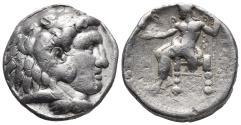 Ancient Coins - KINGS of MACEDON. Alexander III, 336-323 BC AR tetradrachm 16.8gr 25mm
