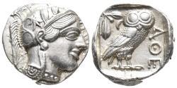 Ancient Coins - ATTICA, Athens. Circa 454-404 BC. AR Tetradrachm 17.21 g 23.2 mm