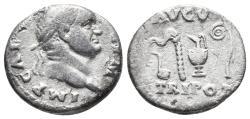 Ancient Coins - Vespasian. AD 69-79. AR Denarius 2.7gr, 15.7mm