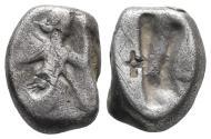 Ancient Coins - Achaemenid Empire. Sardeis. Time of Darius I to Xerxes I 505-480 BC. 5.2gr 14.9mm