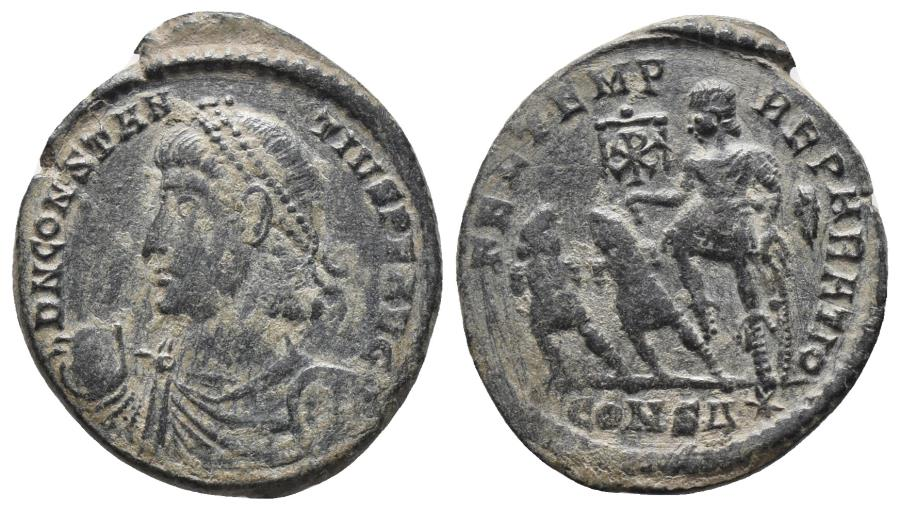 Ancient Coins - CONSTANTIUS II. Follis   Cycicus. AD 351-354 Ae 3.7gr, 23.6mm