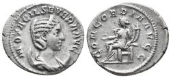 Ancient Coins - Otacillia Severa, 244 - 249 AD Denarius 4.2gr, 20.5
