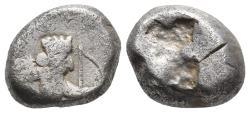 Ancient Coins - Achaemenid Empire. Sardeis. Time of Darius I to Xerxes I 505-480 BC.5.4gr 14.8mm