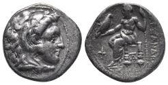 Ancient Coins - Kingdom of Macedon. Alexander III, The Great. drachm. 336-323 BC 4gr 17.7mm