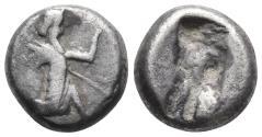 Ancient Coins - Achaemenid Empire. Sardeis. Time of Darius I to Xerxes I 505-480 BC 5.5gr 15.3mm
