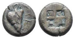 Ancient Coins - Lesbos, uncertain mint AR Twelfth Stater. Circa 500-450 BC. 1gr, 8.8mm