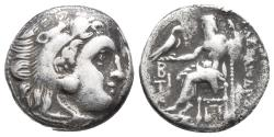 Ancient Coins - Kingdom of Macedon. Alexander III, The Great. drachm. 336-323 BC 3.8gr 16.3mm