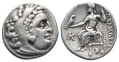 Ancient Coins - Alexander III 'the Great', 336-323 BC. Drachm Kolophon  (4.2gr, 17.3mm)