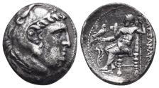 Ancient Coins - Kingdom of Macedon. Alexander III, The Great. drachm. 336-323 BC 4.1gr 18.4mm