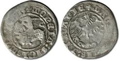 World Coins - Lithuania - ½ Groschen 1513 - VG+, weak areas