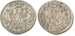 World Coins - Frankfurt - 1 Albus 1657 - F+
