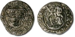 World Coins - Hungary - Denar 1618 K-B, Matthias II (1608-1619) - F+