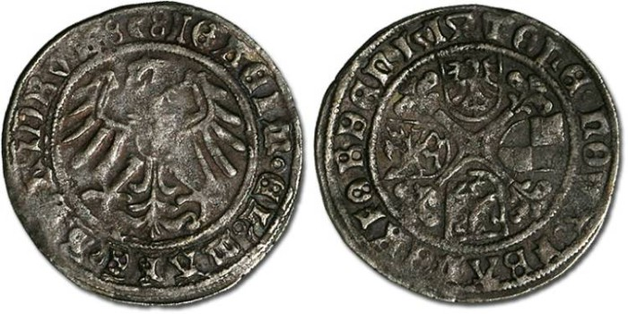 World Coins - Brandenburg - Joachim I 1499-1515 - Groschen 1514 - VG, cleaned