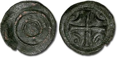 Ancient Coins - Hungary - Husz. 100 - Anonymous Denar, 12th century - crude F