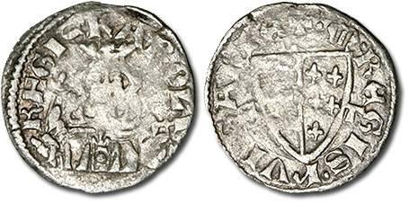 Ancient Coins - Hungary - Husz. 495 - Denar, 1307-1342 (S-T) Karl Robert, crude VG