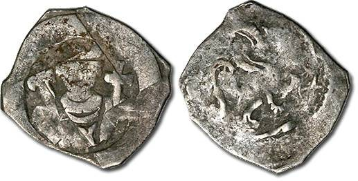 Ancient Coins - Austria - Friedrich II, 1230-1246 - Pfennig, Enns mint - crude VG