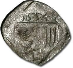 World Coins - Austria, Linz (Oberösterreich), Ferdinand I, 1521-1564 - Uniface Pfennig 1534 - F, cleaned