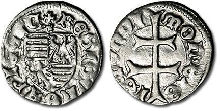 Ancient Coins - Hungary - Husz. 576 - Denar (MM: *), F+