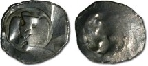 World Coins - Austria - Unknown Wiener Pfennig, probably Ottokar II - crude F