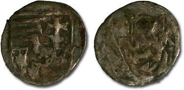 World Coins - Hungary - Matthias Corvinus, 1458-1490 - Obolus (MM: K-A) - G