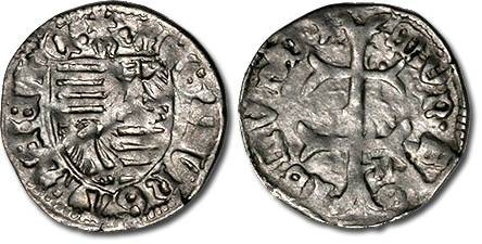 Ancient Coins - Hungary - Husz. 576 - Denar (MM: m-n), F