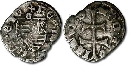 Ancient Coins - Hungary - Husz. 576 - Denar (MM: c), F
