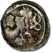 World Coins - Bohemia - Wenceslas IV, Hussite Period, 1420-1436 - Heller - Crude F