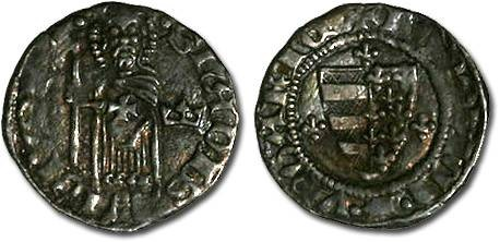 Ancient Coins - Hungary - Ludwig I, 1342-1382 - Denar (MM: Crown) - F