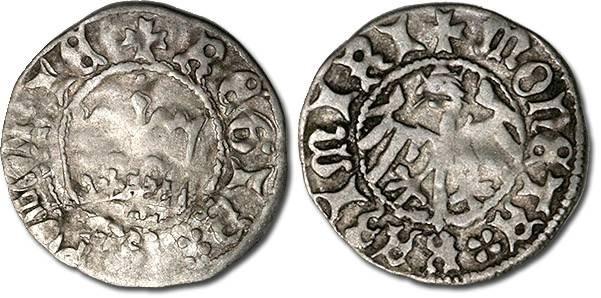 Ancient Coins - Poland - Kazimierz Jagiellonczyk (1446-1492) - Polgrosz, VG/VF+