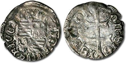 Ancient Coins - Hungary - Husz. 576 - Denar (MM: *), VG