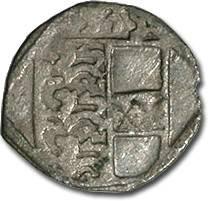 Ancient Coins - Carinthia, Klagenfurt, Ferdinand I, 1521-1564 - Uniface Pfennig 153? - F