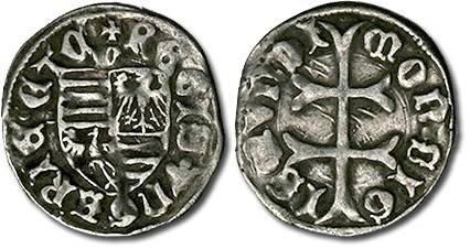 Ancient Coins - Hungary - Husz. 576 - Denar (MM: m), F+