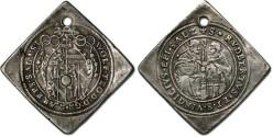 World Coins - Salzburg, Wolfgang Dietrich - ¼ Thaler Klippe - VF, holed but VERY RARE!