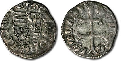 Ancient Coins - Hungary - Husz. 576 - Denar (MM: ·), VG+