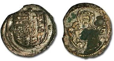 Ancient Coins - Hungary - Ludwig II, 1516-1526 - Obolus (MM: K-G) - VF, rim clipped